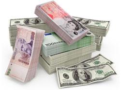 Levar dinheiro par ao exterior e várias moedas estrangeiras