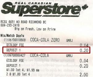 Recibo SuperStore - Reciclagem no Canadá